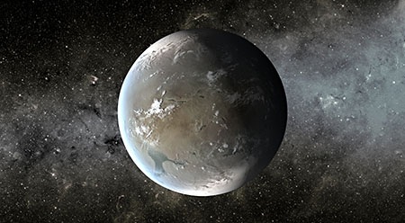 Artist's concept of exoplanet