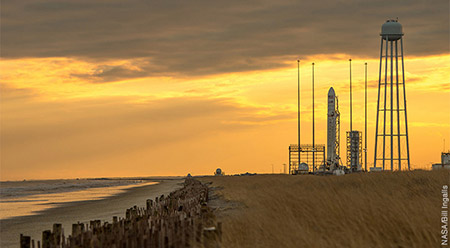 Image of NASA Kennedy launchpad