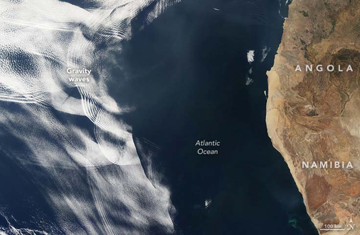 Image of clouds off the Africa coast