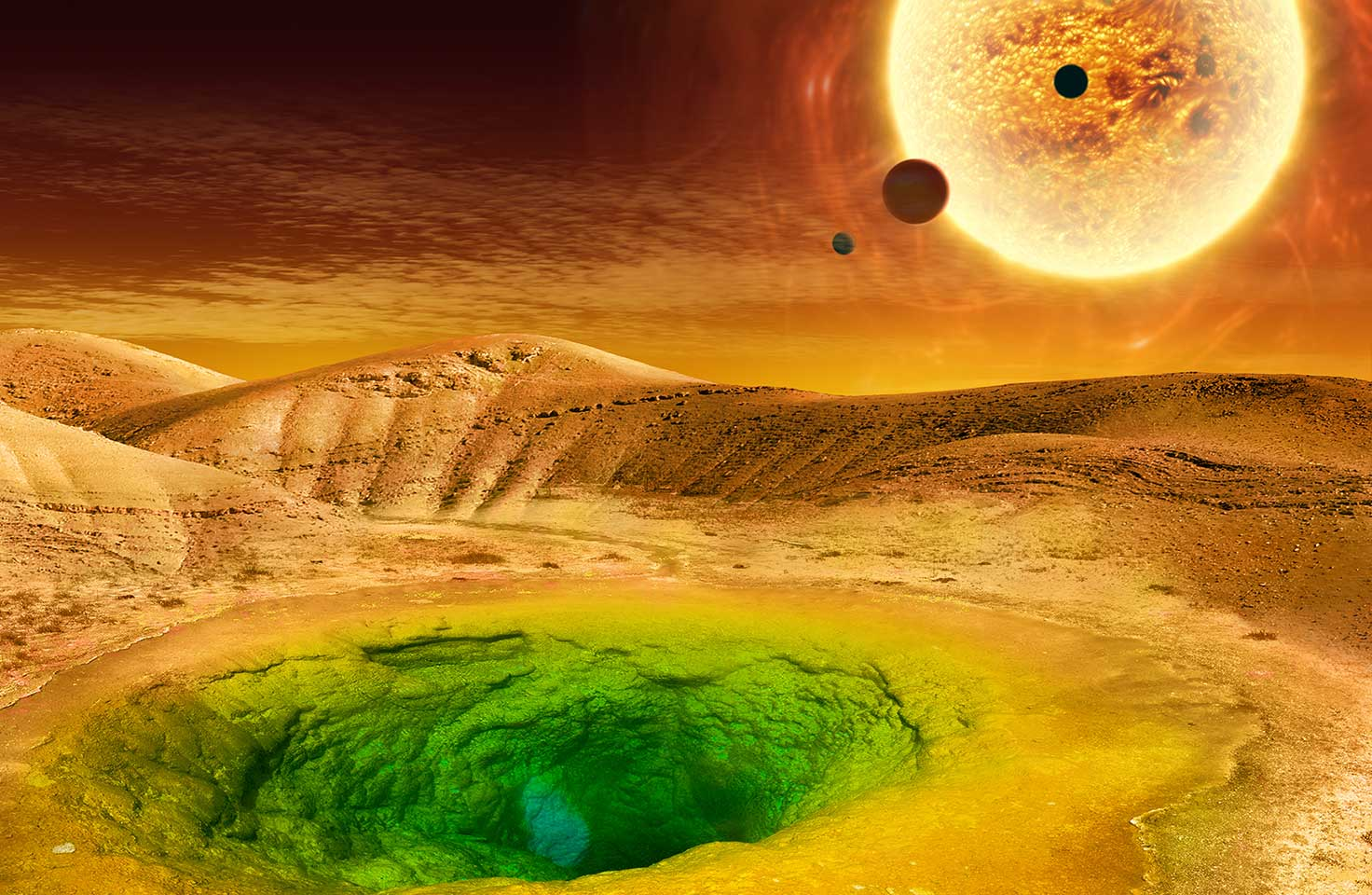 Artist conception of an exoplanet surface