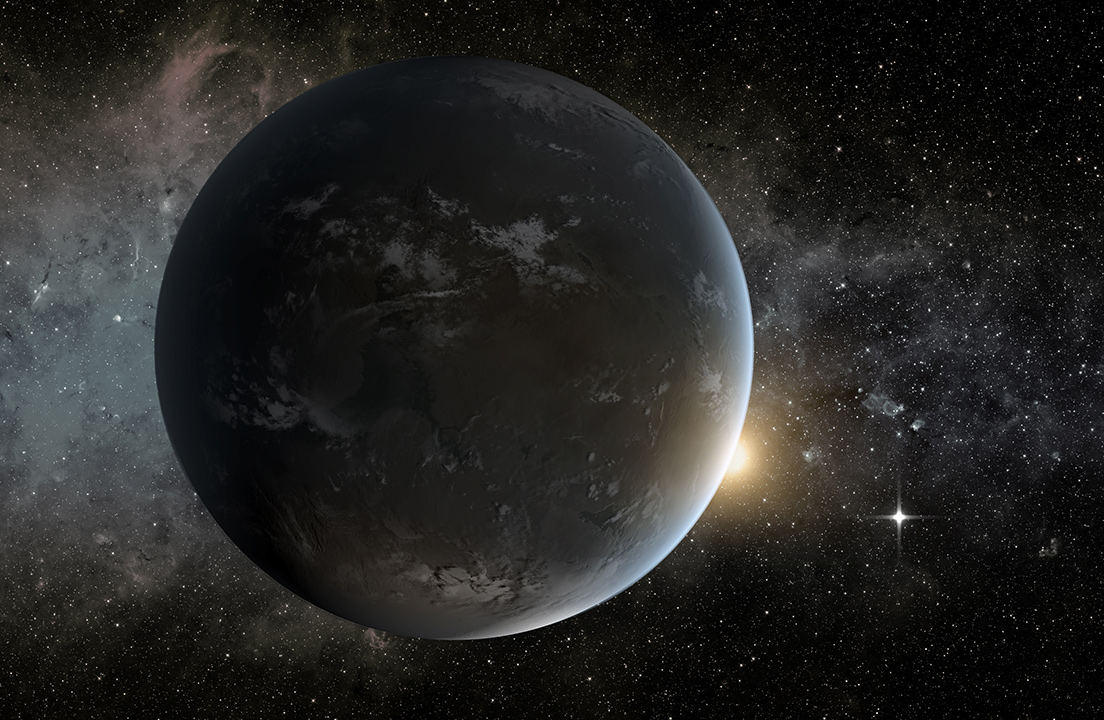 Artist's concept of the exoplanet Proxima Centauri b