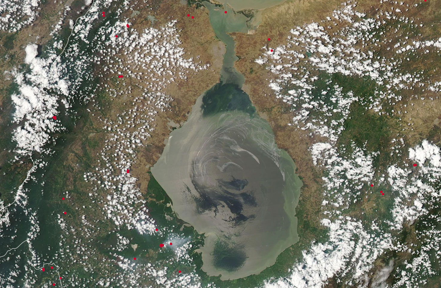 Satellite photo of Lake Maracaibo area