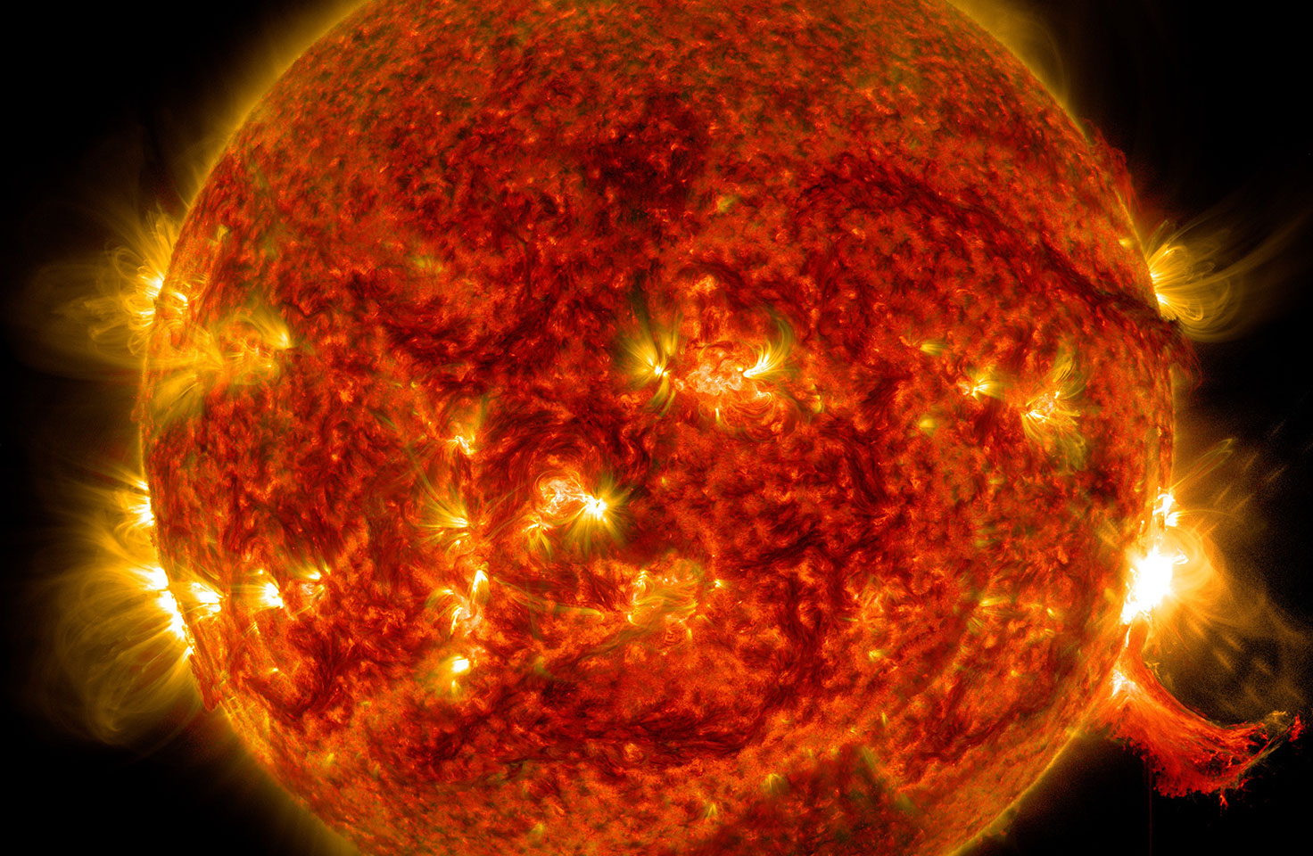 Image of solar flare