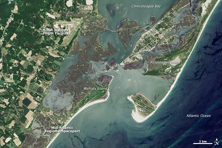 satellite image of wallops flight facility