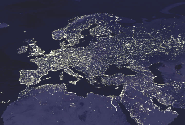 Nasa giss nasa news feature releases satellites shed light on map of european night lights caption explains further gumiabroncs Choice Image