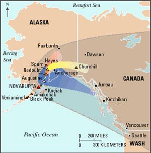 NASA GISS NASA News Feature Releases Volcanic Blast Location