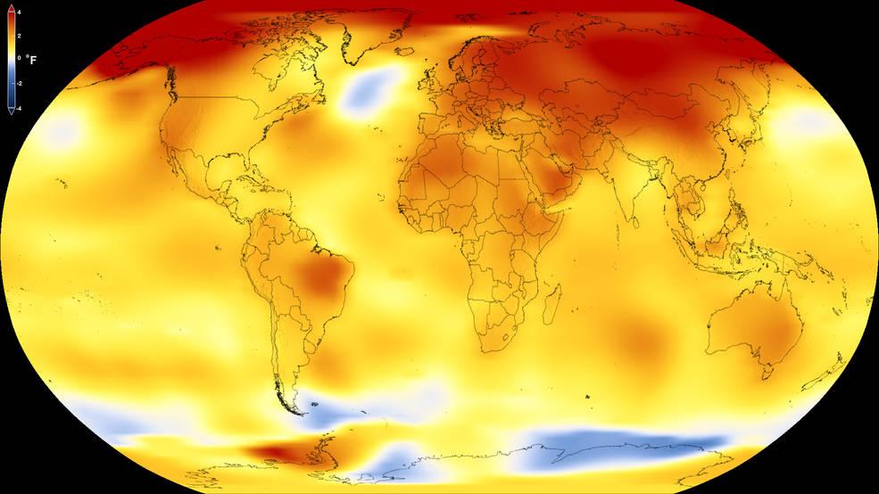2017 yüzey sıcaklık anomalisi küresel haritası