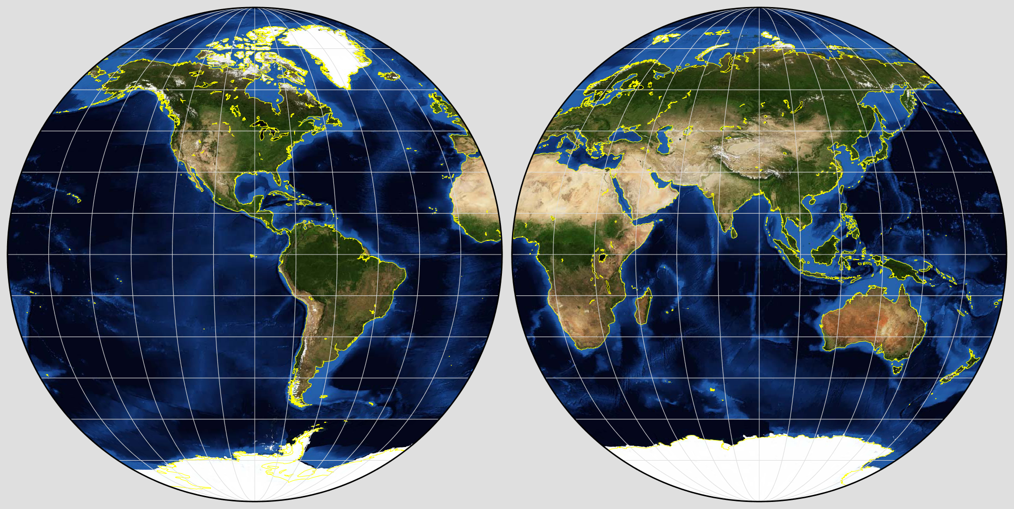 NASA GISS: G.Projector: User's Guide: Projection List on peters projection map vs mercator, accurate scale map of globe, flat map and globe, peters projection map with scale, peters map of the world, peters projection of the world,
